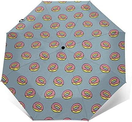 EW-OL Viaje Sol Lluvia Sombrilla-Luz Sombrilla con protección UV Algodón Donuts Amor: Amazon.es: Deportes y aire libre