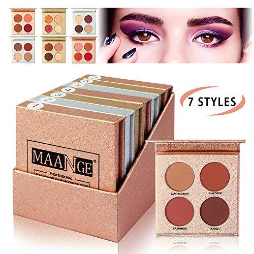 MAANGE Eyeshadow Palette 7PCs Pigmented Eyeshadow Palette Set, Professional Colorful Eyeshadow Palette Long Lasting Waterproof Matte Shimmer Eye Shadows Cosmetics - 7 Styles