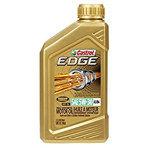 Castrol 06037 EDGE 5W-30 A3/B4 Advanced Full Synthetic Motor Oil, 1 quart