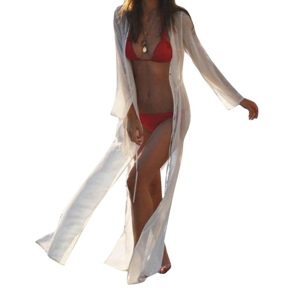 Highdas Sommerkleid Damen Spitze Bikini Cover Up Strandkleid Partykleid Elegant Schwarz Weiß