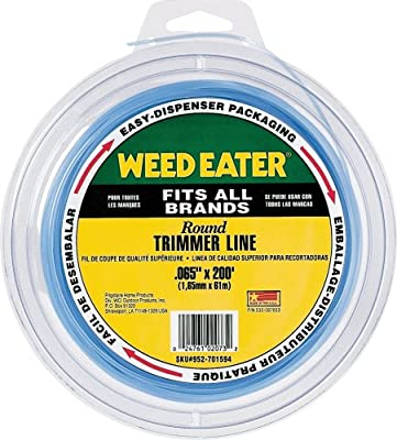 amazon com weed eater 952701594 0 065 inch by 200 foot bulk round