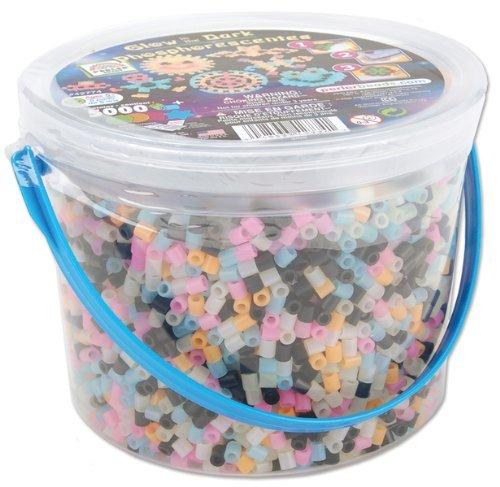 Perler Fuse Bead Activity Bucket-Glow In The Dark Perler Fuse Bead Activity Bucket-Glow In The Dark