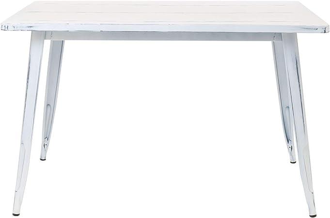 Sklum Table Lix Vintage 120x80 Blanc Casse Plus De Couleurs