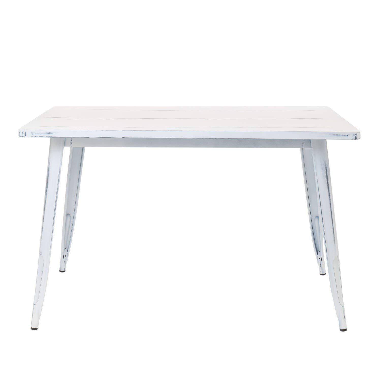 120x80 SKLUM Mesa LIX Vintage Elige Color Blanco Roto -
