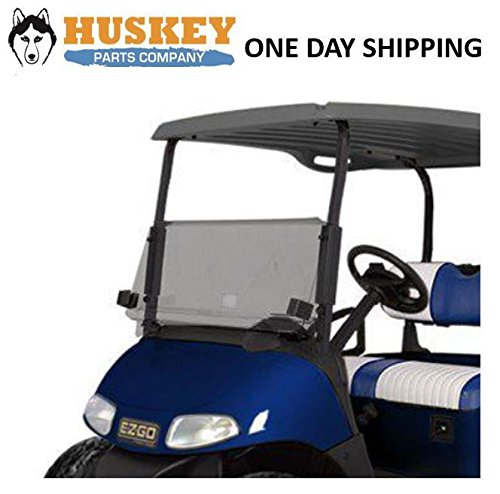 EZGO RXV Golf Cart Windshield W/Rubber Trim Folding Tinted, Impact Resistant