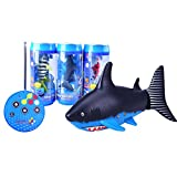 Lanlan 1PCS Mini Remote Control Electric Fishes USB Charge RC Shark Toys Bath Toy Green ABS Plastic Kids Toy Gift