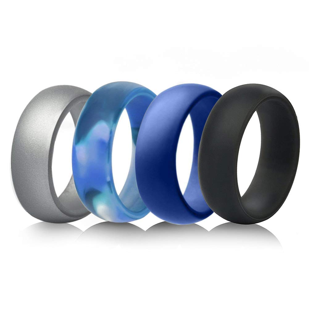 Silicone Wedding Bands Target: 4 Pack Silicone Wedding Ring For Men & Women For $1.99