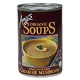 Amy's Organic Cream of Mushroom Soup, 14.1-Ounce Cans ( Value Bulk Multi-pack)(PACK OF 48)