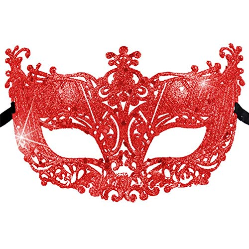 Party Mask - 5 Colors Halloween Party Mask Masquerade Dress Venetian Eye Carnival Festival Sexy 1pcs - Pack Fabric Music Color Metal Dark Rose Blue Coral Under Couples Spiderman Toddler -