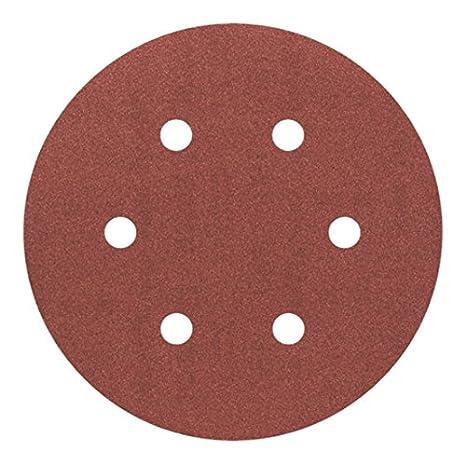 Bosch 2608605718 Disque abrasif pour ponceuse excentrique Ø 150 mm 6 Trous Grain 80 5 pièces
