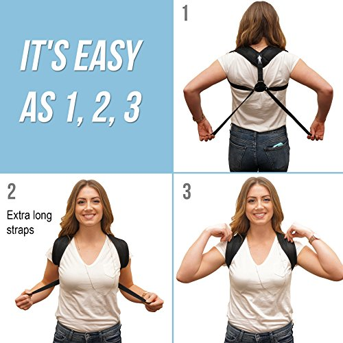 Posture Corrector By Perfect Posture: Unisex Clavicle Brace For Proper Posture And Pain Relief, Extra Long Straps With Added Under Armpit Padding For Comfort And Breathable Neoprene For Daily - Form Upright Order