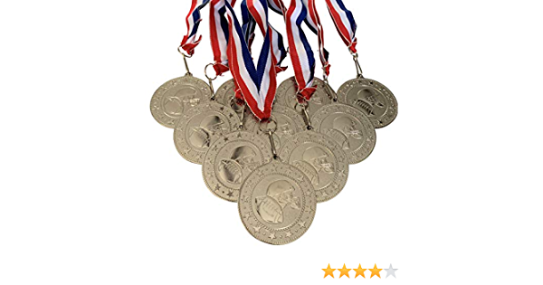 Express Medals Large 3 Inch Ice Hockey Gold Medal with Neck Ribbon Award Trophy Plaque Gift Prize