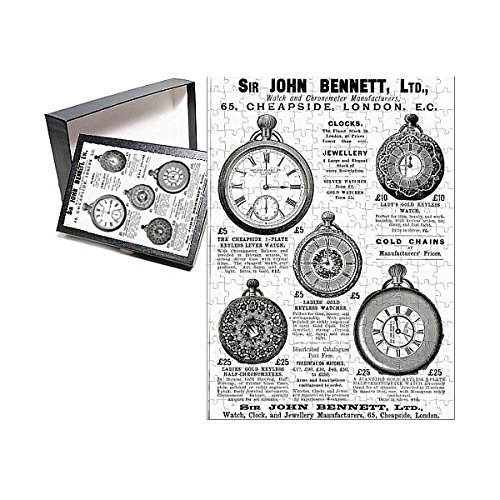 Prints Prints Prints 252 Piece Puzzle of Advert for John Bennett pocket watches 1892 (14378612) Chronograph Pocket Timepiece