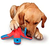 Dealetech Dog Educational Toys, CLKJ Volcanic Treasure Hunt Puzzle Toys Resistant To Bite Drain Dog Food Toy Dog toys Ball