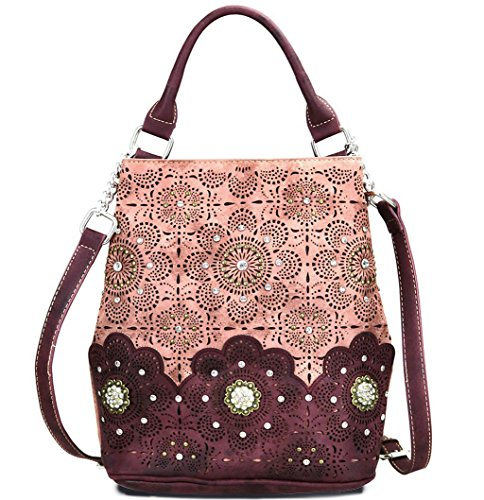 Montana West Daisy Laser Concho Collection Backpack Handbag-