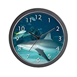 "CafePress – ""Shark"" Wall Clock – Unique Decorative 10″ Wall Clock Review"