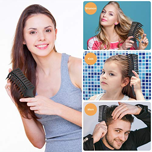 Sndyi Vent Detangling Brush, Boar Bristle Hair Paddle Brush for Blow Drying, Ceramic Detangling Brush for Thick, Curly, Straight, Wet & Dry Hair, Detangler Curved Styling Brush for Women, Men & Kids