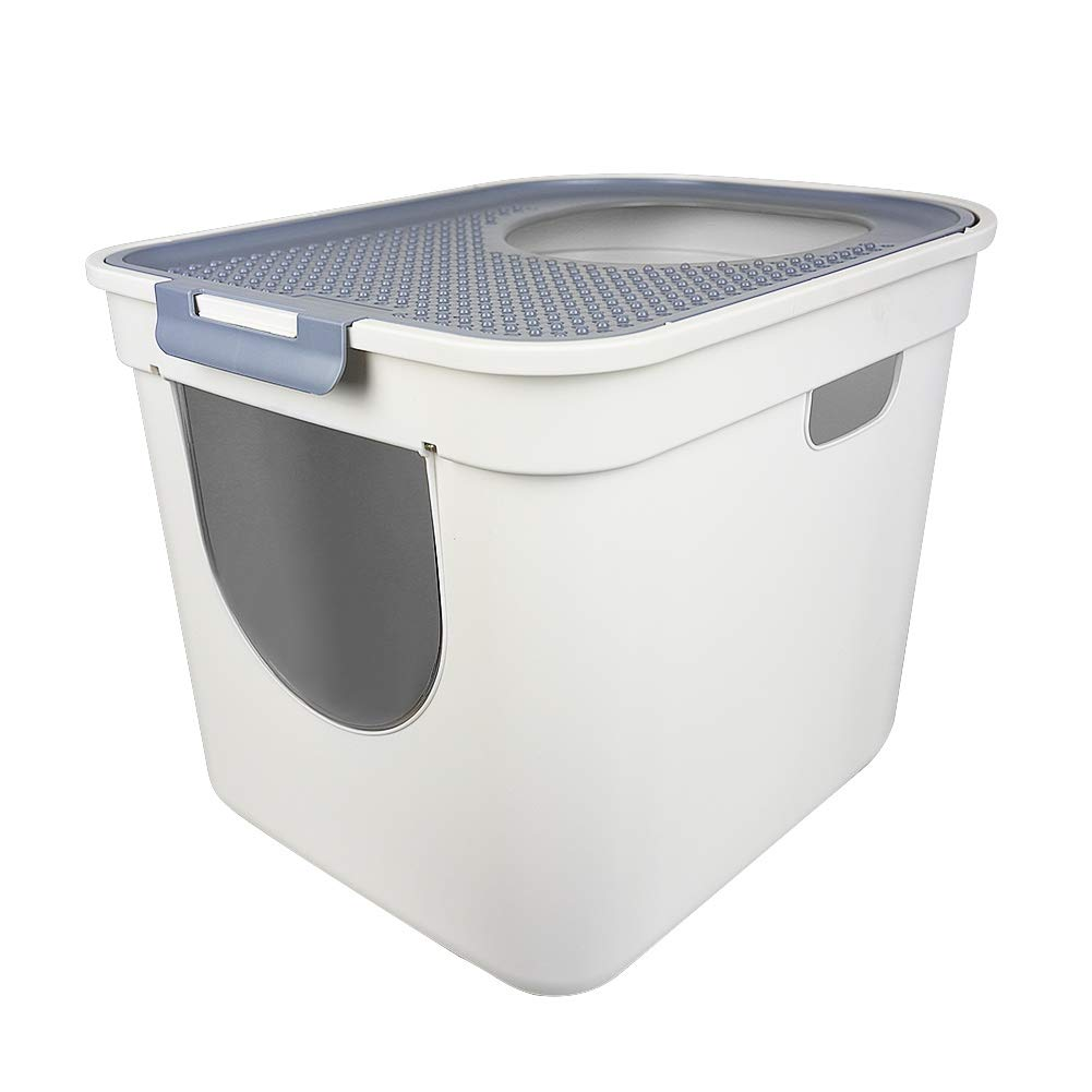 ATDAWN Cat Litter Box, Top Entry or Front Entry Cat Litter Pan with Cat Litter Scoop by ATDAWN