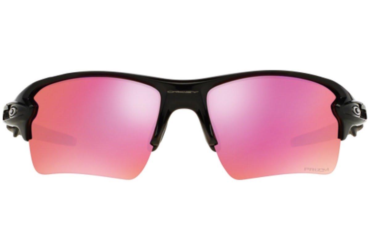 Oakley Men's Flak 2.0 XL OO9188-08 Rectangular Sunglasses, Polished Black, 59 mm