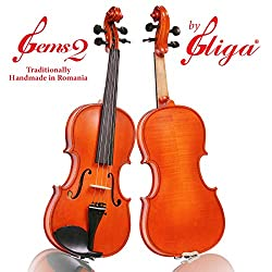 4/4 Full size Student 'GEMS 2' Model, a Gliga Violin Handmade in Romania, Advanced Student Level, Hand Varnished, Hand Inlaid Purfling, Hand Carved Solid European Wood, Ready-To-Play