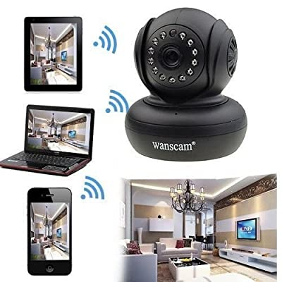 OUKU Wanscam - Wireless Mini Ip Camera with Pan Title and P2P Free, Remote Access, Day Night, Plug and play, Motion Detection