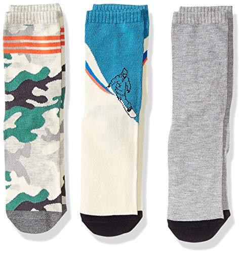 Gymboree Boys' Big 3-Pack Crew Socks, camo ski, -