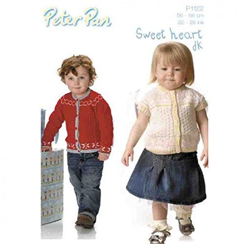 Peter Pan Childrens Cardigans Knitting Pattern 1122 DK