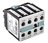 Siemens 3RH19 21-1FA22 Auxiliary Switching Block For Contactor, Screw Connection, 4 Pole, 22 Identification Number, 2 NO + 2 NC Contacts
