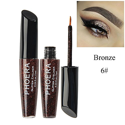 Colors Glitter Eyeliner Liquid Long Lasting Shimmer Style Eye Liner Glitter Eyeshadow Color Set Beauty Tool Cosmetic (Pen Style Liquid)