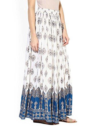 Juniper Blue with Women Skirt Handicrfats Printed Indian Tassels Export IPxqaO6
