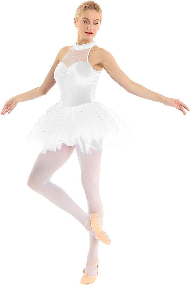 CHICTRY Vestido Tutú de Ballet Mujer Disfraz Bailarina Adultas ...