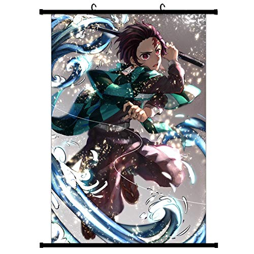 Zzeroe Demon Slayer: Kimetsu no Yaiba Poster Prints, Anime Scrolls Poster Banners for Collect Home Wall Bedroom Decoration, 4530cm(H01) from Zzeroe