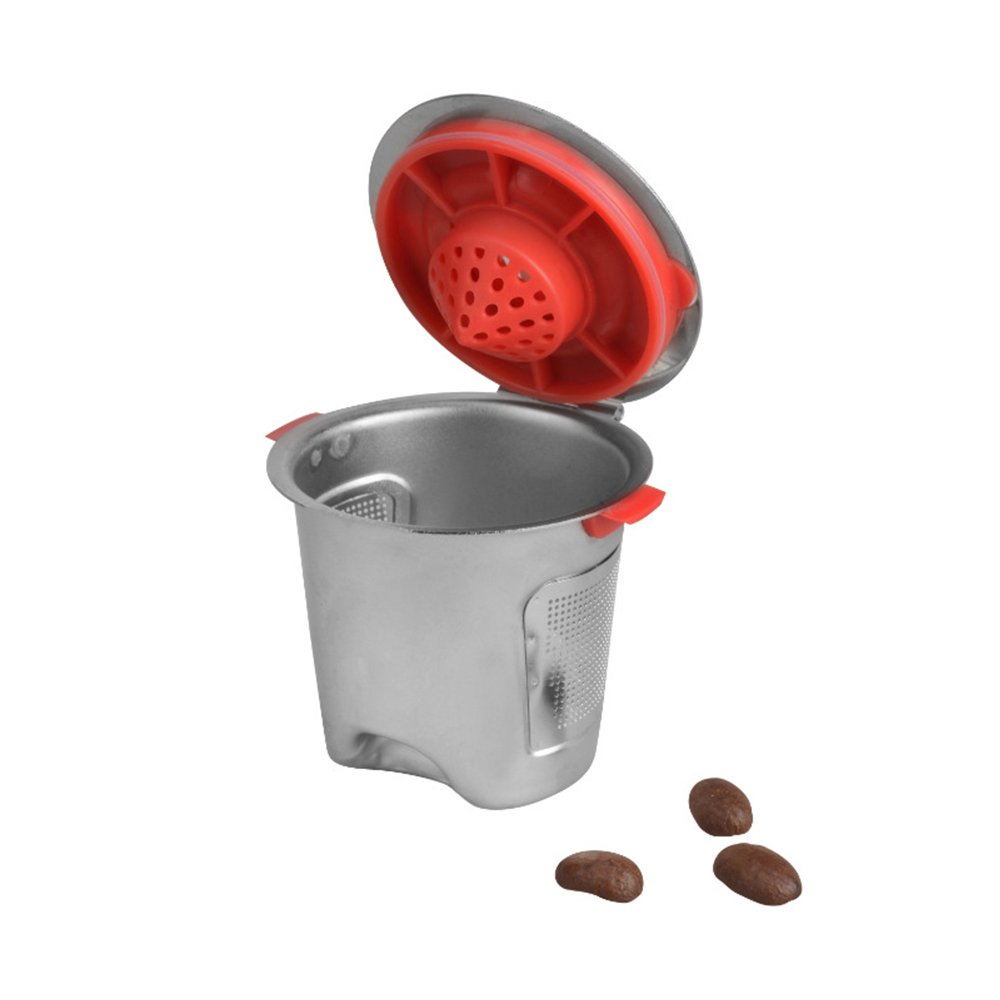ALLOMN Stainless Steel Metal Reusable Capsule Pods Refillable for Keurig K Cup Baskets K-cup Pod