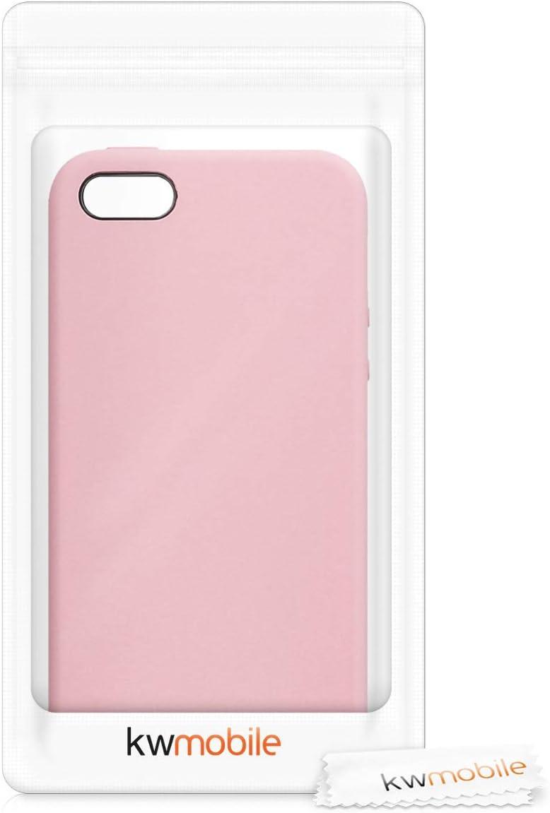 // 5 // 5S Carcasa de TPU para m/óvil kwmobile Funda Compatible con Apple iPhone SE Cover Trasero en Rojo Granada 1.Gen 2016