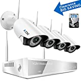 A-ZONE 4CH 960P NVR Wireless CCTV Security Camera System -Four 1280TVL 1.0-Megapixel Weatherproof Wifi IP Surveillance Camera Kit for Home, Office, 80ft IR LED Infrared Night Vision, 2TB HDD Review