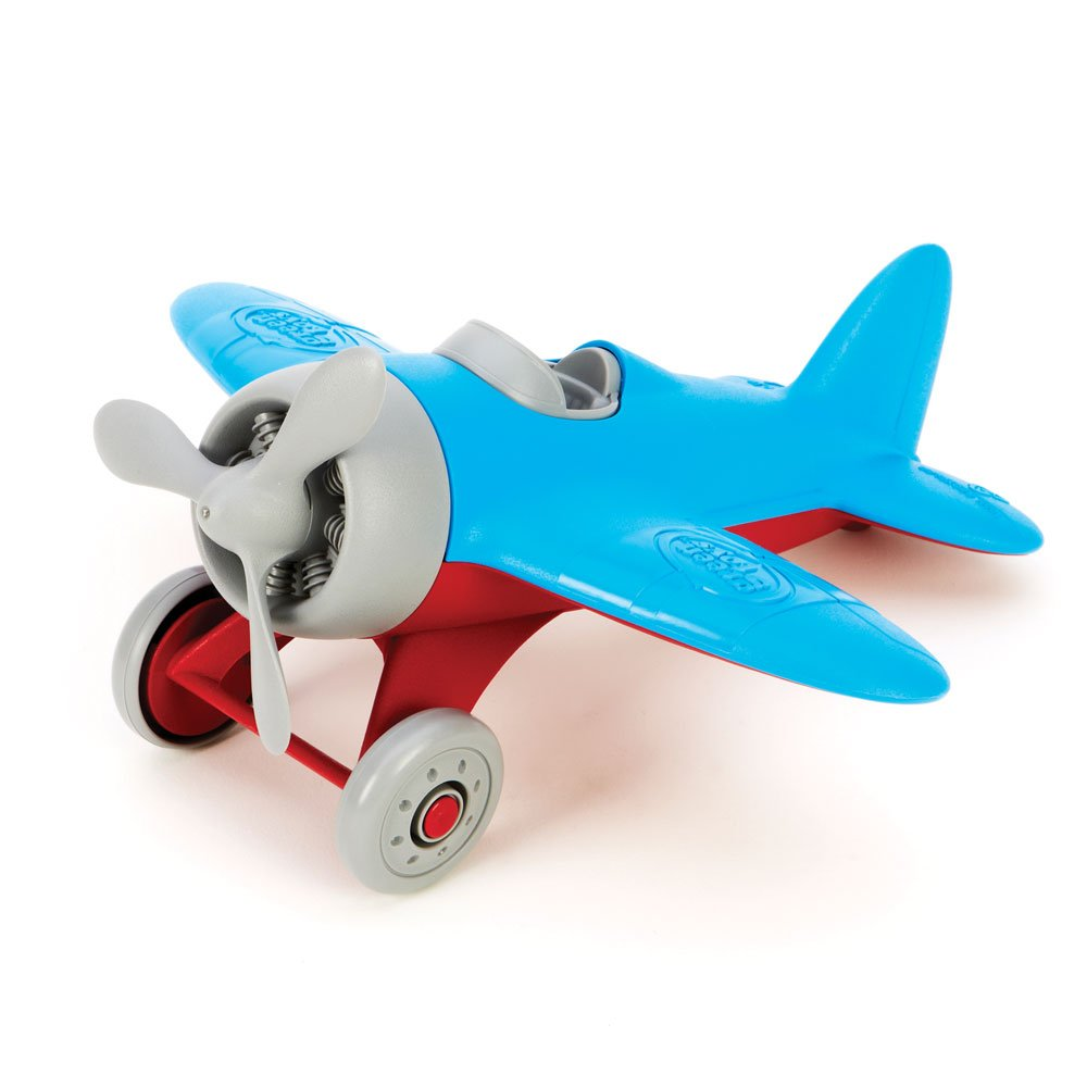 Green Toys Airplane - BPA, Phthalates Free, Blue Air Transport Toy for Introducing Aeronautical Knowledge, Improving Grasping Power. Toy Vehicles by Green Toys (Image #2)