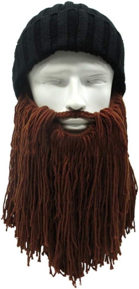 Xuxuou 1 Pieza Barbudo Gorro de Vikingo Sombrero de Invierno para ...