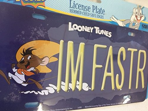 Looney Tunes Speedy Gonzalez IM FASTR licens plate metal Sign of the Times