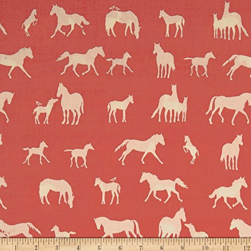 Birch Organic Farm Fresh The Champion Coral Fabric By The Yard (Farm White Birch)
