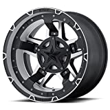 XD Series by KMC Wheels XD827 RS3 Matte Black Wheel with Machined Finish (17x8/6x120, +20mm Offset)