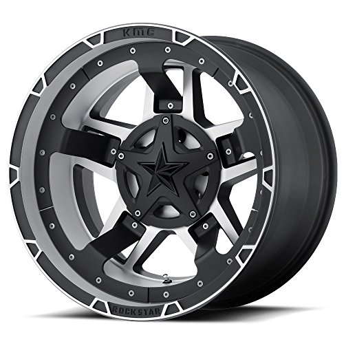 XD SERIES BY KMC WHEELS XD827 ROCKSTAR III Wheel with BLACK and Chromium (hexavalent compounds) (20 x 12. inches /8 x 124 mm, -44 mm Offset) (Kmc Rockstar Rims)