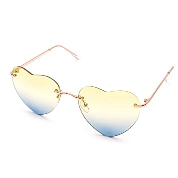 Amazon.com   Shopantic(TM) Women Heart-shaped Sunglasses Sun Glasses ... b129a1d810