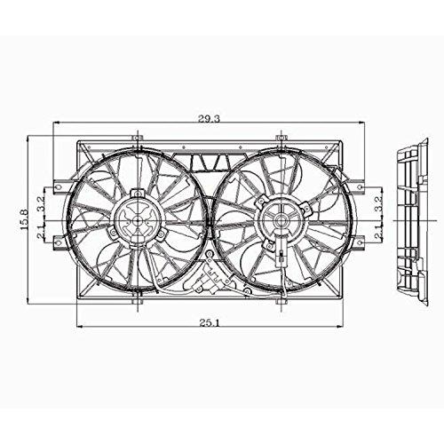 Crash Parts Plus Radiator Cooling Fan Assembly for Chrysler Concorde, LHS, New Yorker, Dodge Intrepid, Eagle Vision CH3115108 ()