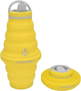HYDAWAY Collapsible Water Bottle, 25oz Spout Lid | Ultra-Packable, Travel-Friendly, Food-Grade Silicone (Lightning)