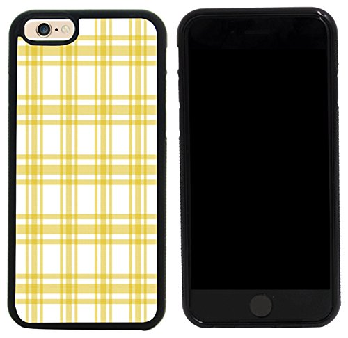 Apple Yellow Plaid (Rikki Knight Case Cover for iPhone 6/6s - Yellow and White Plaid Design)