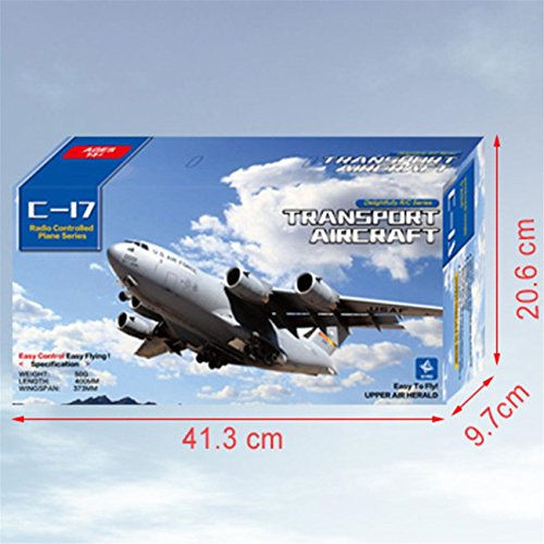 C-17 Transport 373mm Wingspan EPP DIY RC Airplane 2.4G 3-Axis Gyro Aircraft RTF by ABASSKY