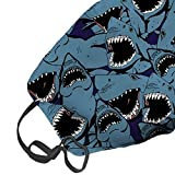 Angry Shark Custom Fashion Design Face Mask Mouth