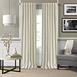 Elrene Home Fashions 026865900958 3-in-1 Blackout Energy Efficient Lined Linen Rod Pocket Window