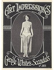 "George Gershwin ""GEORGE WHITE SCANDALS"" Erte Designs 1926 San Francisco Flyer"