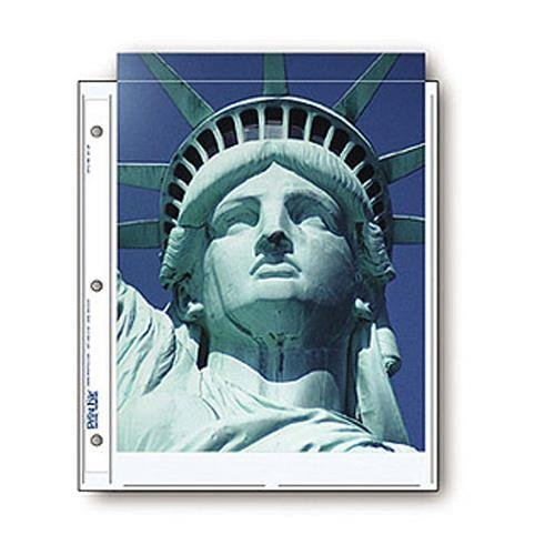 Print File Archival Photo Pages Holds Two 8.5x11'' Prints, Pack of 25 by Print File